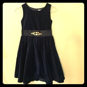 Gymboree Navy velvet dress